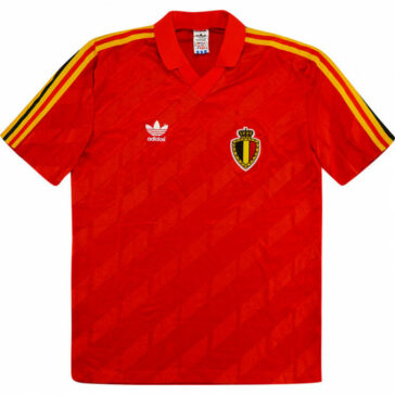 1986-89 Belgium Home Shirt